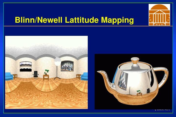 Blinn/Newell Lattitude Mapping