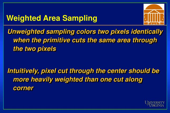 Weighted Area Sampling