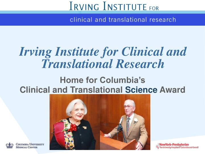 irving institute for clinical and translational research n.