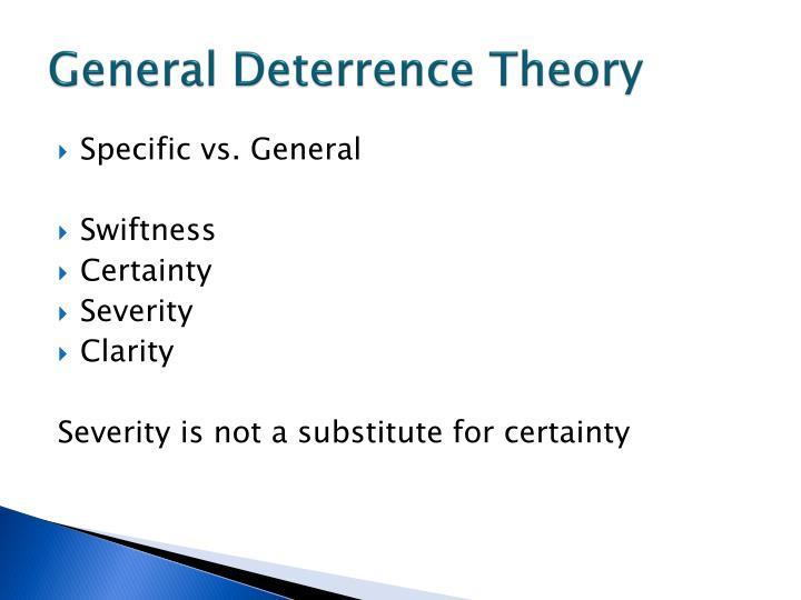 General Deterrence Theory