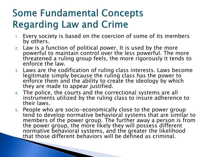 Some Fundamental Concepts