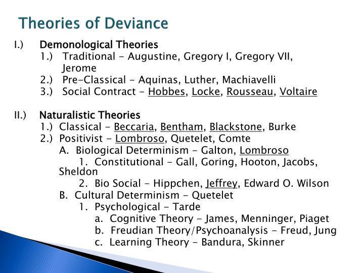 Theories of Deviance