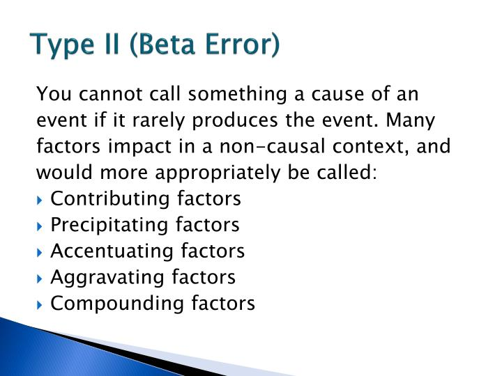 Type II (Beta Error)