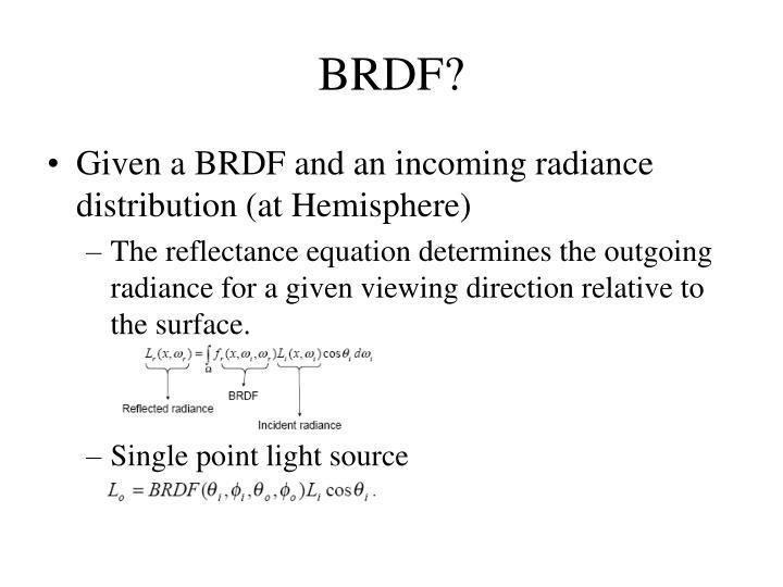 BRDF?