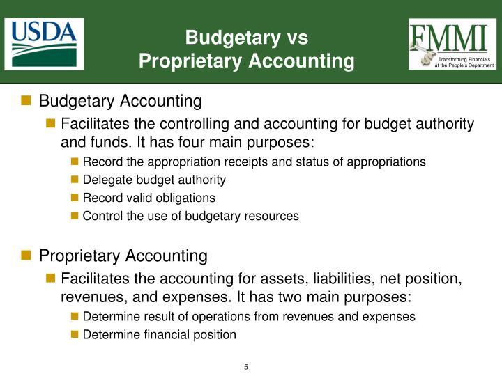 Budgetary vs