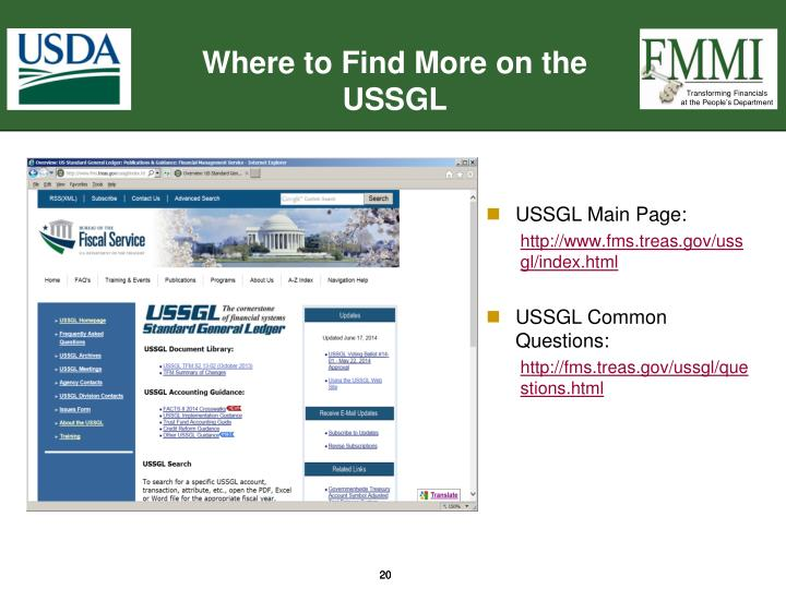 Where to Find More on the USSGL