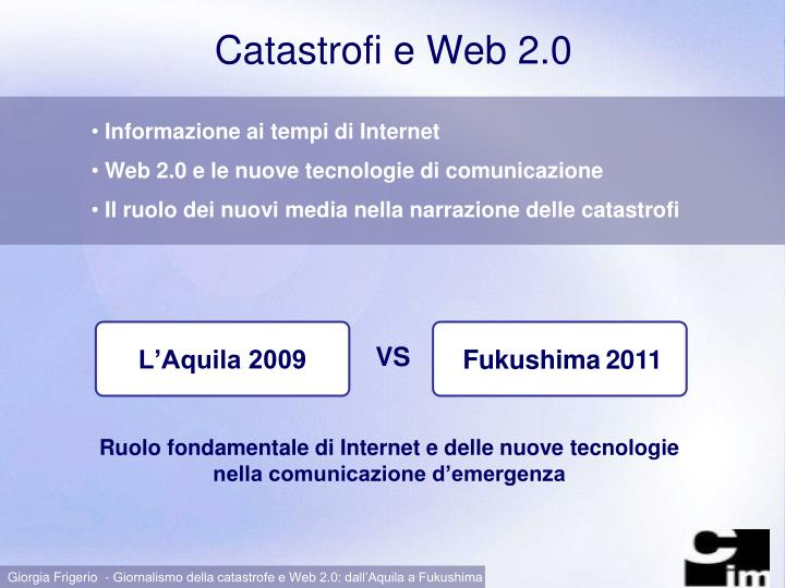 Catastrofi e web 2 0