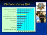 fbi index crimes 2005