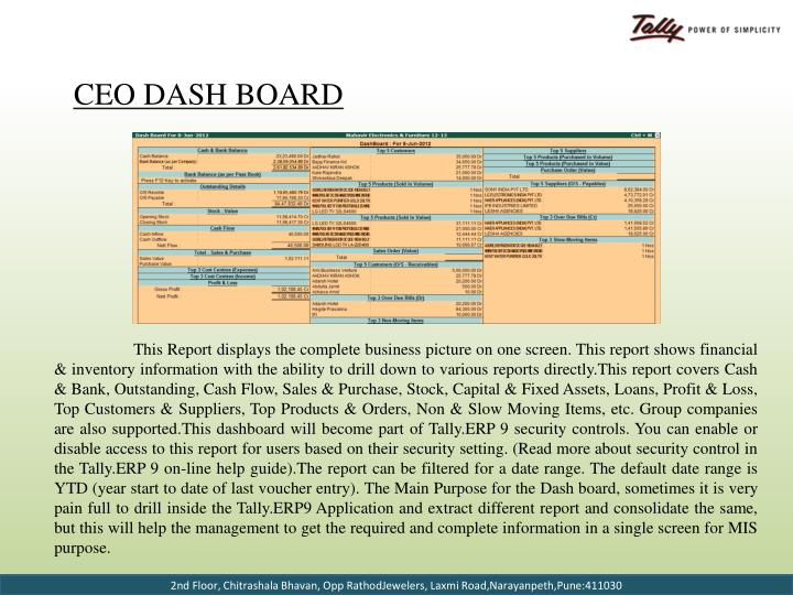 CEO Dash Board