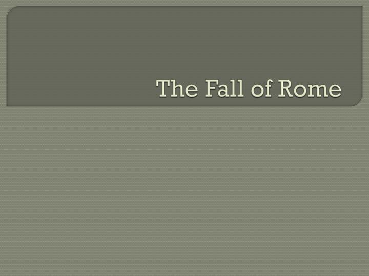 the fall of rome n.