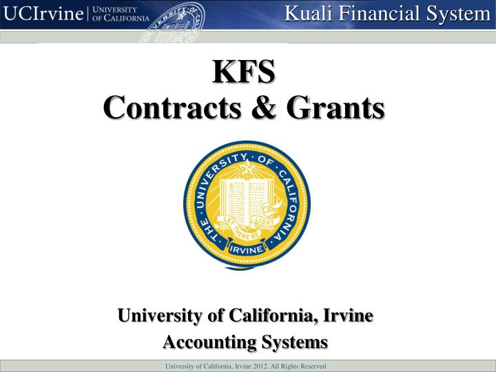 kfs contracts grants n.