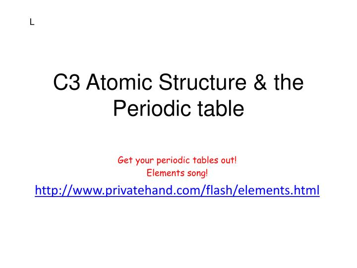 c3 atomic structure the periodic table n.