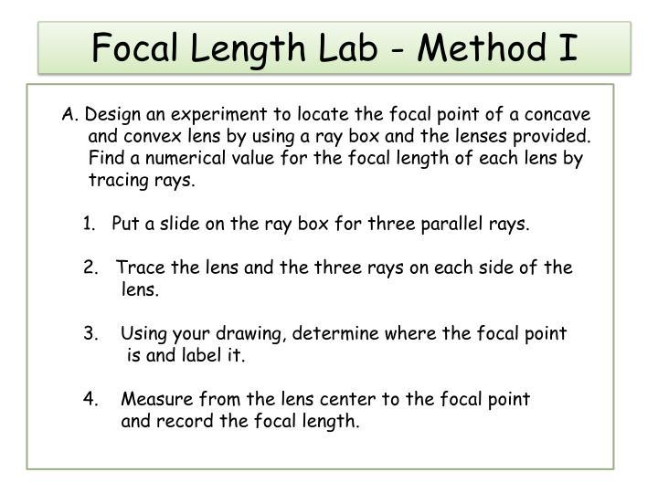 Focal length lab method i
