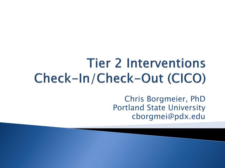 tier 2 interventions check in check out cico n.