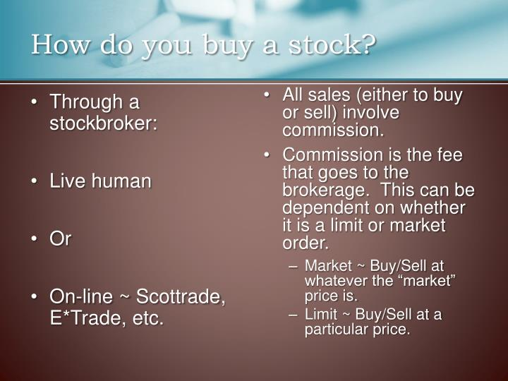 How do you buy a stock?