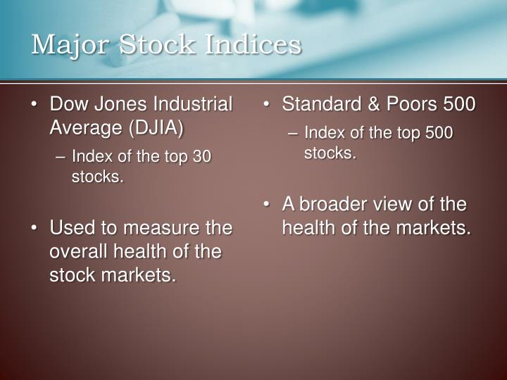 Major Stock Indices
