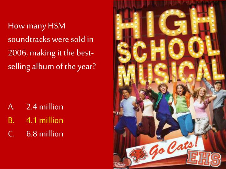 How many HSM soundtracks were sold in 2006, making it the best-selling album of the year?
