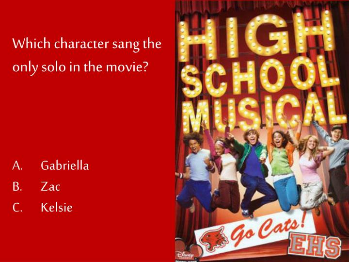 Which character sang the only solo in the movie?