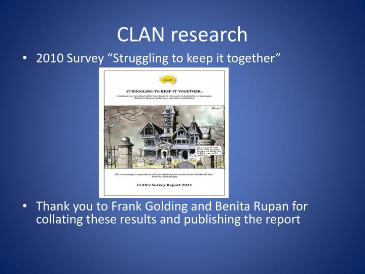 CLAN research