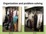 organization and problem solving