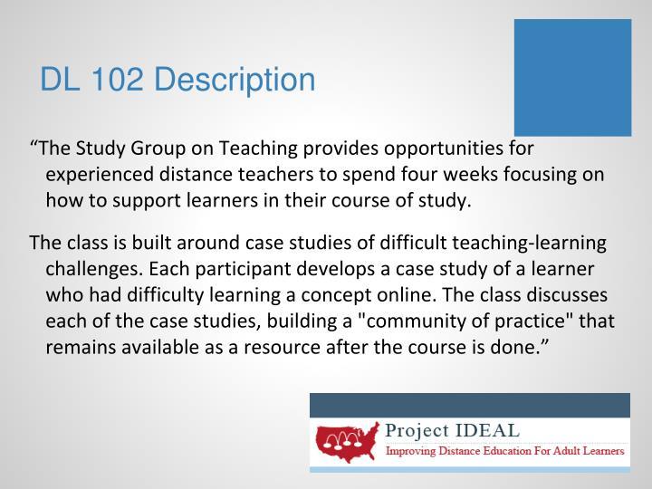 DL 102 Description