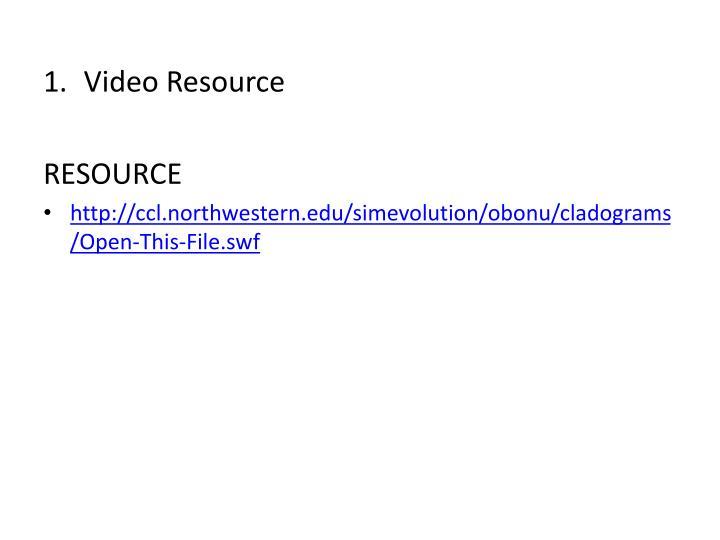 Video Resource