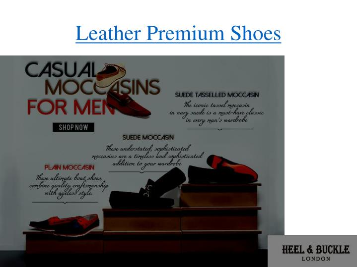 leather premium shoes n.