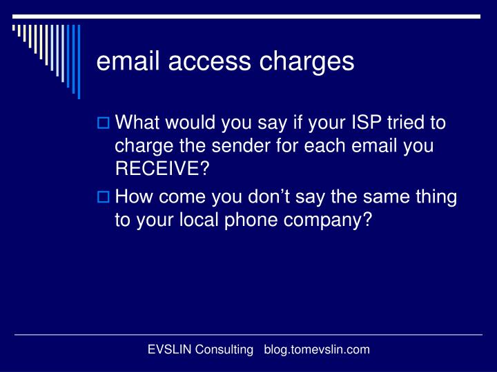 email access charges