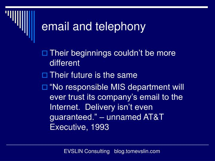 email and telephony