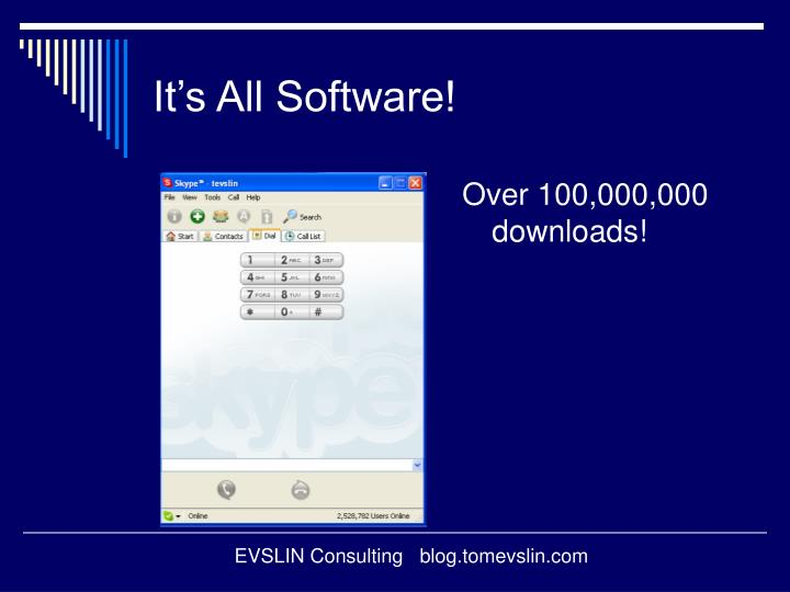 It s all software