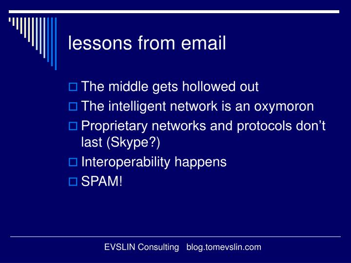 lessons from email