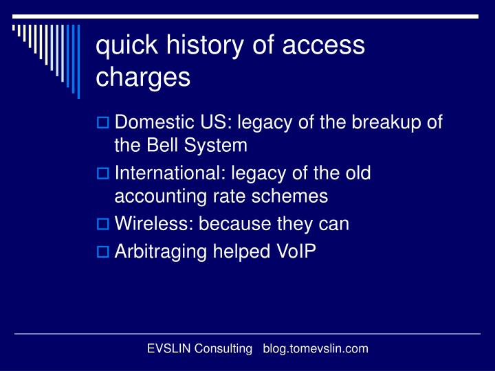 quick history of access charges