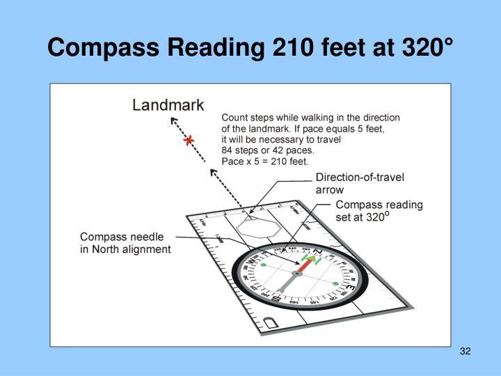 Compass Reading 210