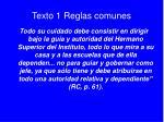 texto 1 reglas comunes