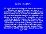 texto 2 blain