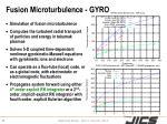 fusion microturbulence gyro