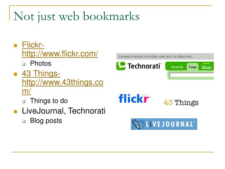 Not just web bookmarks