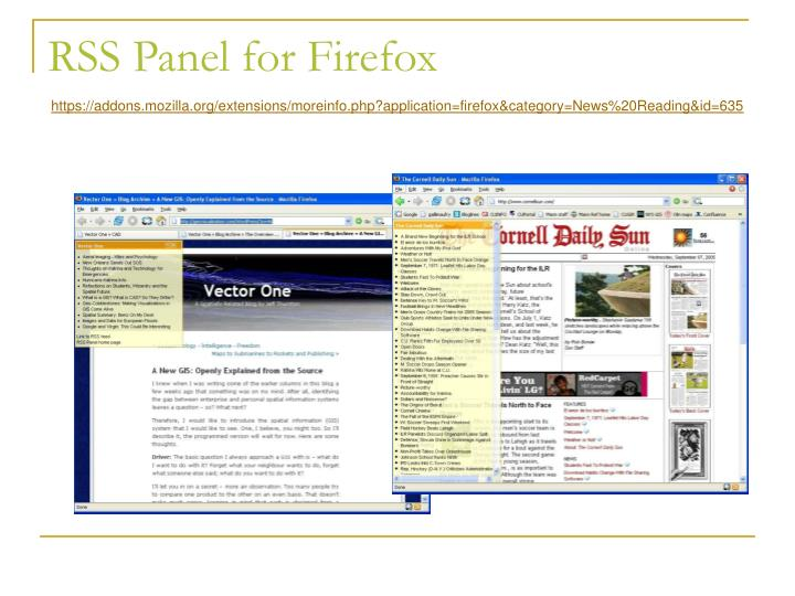 RSS Panel for Firefox