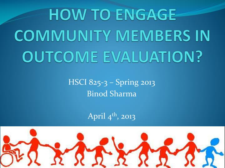 how to engage community members in outcome evaluation n.