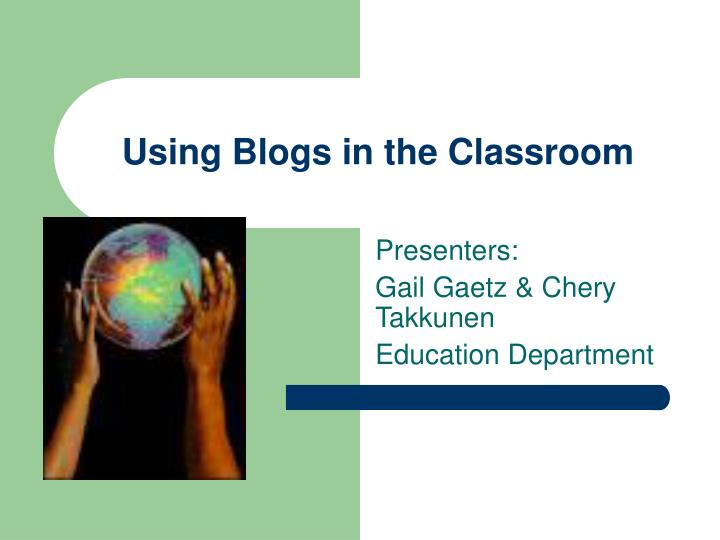 using blogs in the classroom n.