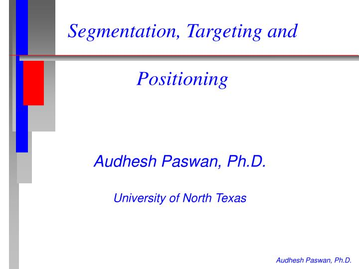 segmentation targeting and positioning of colgate