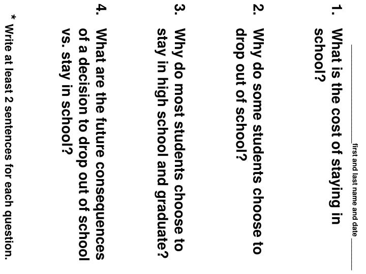 write at least 2 sentences for each question n.