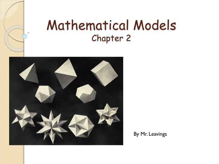 mathematical models Teaching mathematical modelling in singapore schools ang keng cheng national institute of education  introduction the purpose of this paper is to examine the possibility of introducing the teaching of mathematical modelling to the secondary school curriculum in singapore.