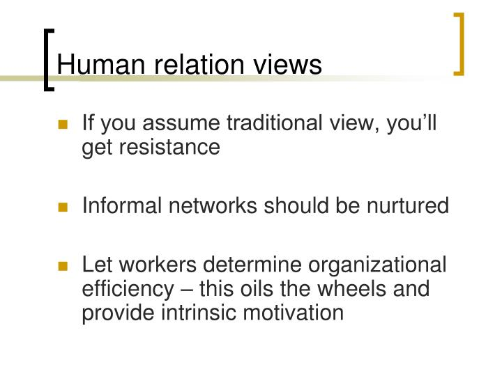 Human relation views