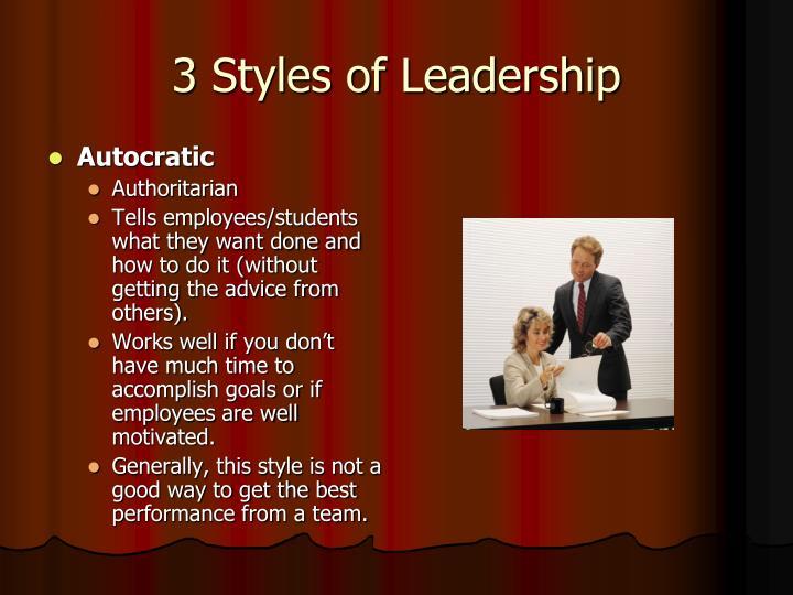 3 Styles of Leadership