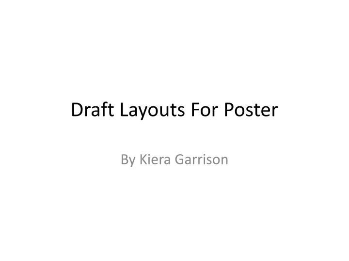 draft layouts f or poster n.