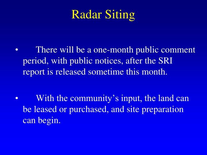 Radar Siting
