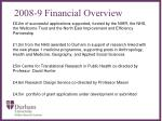 2008 9 financial overview