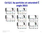 csi q e by particles at saturated angle 2013