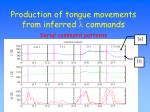 production of tongue movements from inferred l commands1